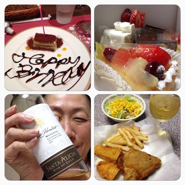 誕生日の食事
