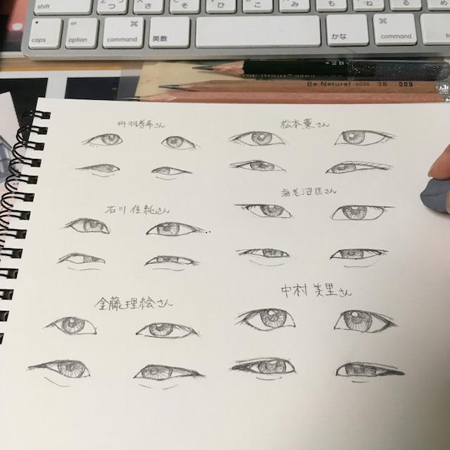 目のスケッチ2