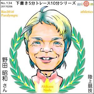 野田 昭和選手似顔絵