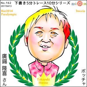 廣鍚 隆喜選手似顔絵