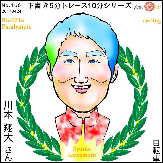 川本 翔大選手似顔絵