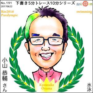 小山 恭輔選手似顔絵