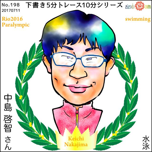 中島 啓智選手似顔絵
