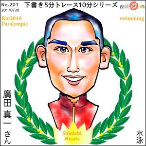 廣田 真一選手似顔絵
