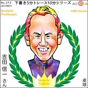 吉田 信一選手似顔絵