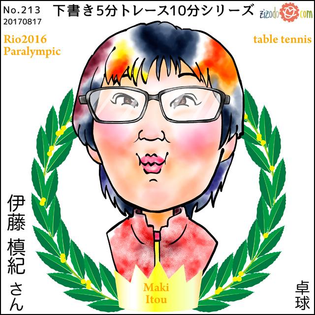 伊藤 槙紀選手似顔絵
