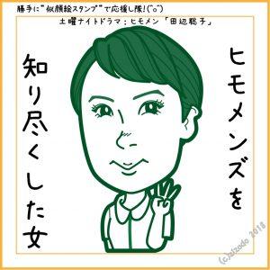 佐藤仁美さん似顔絵