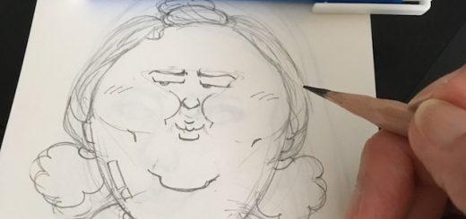 家政夫のミタゾノの似顔絵