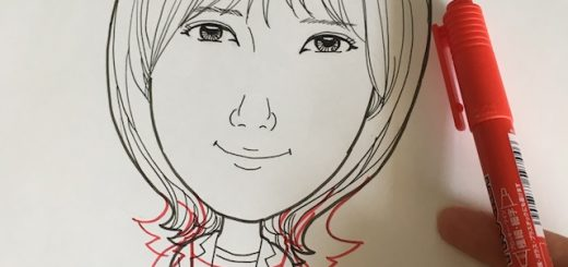 本田翼さんの似顔絵のハズ
