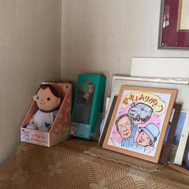 色紙と人形