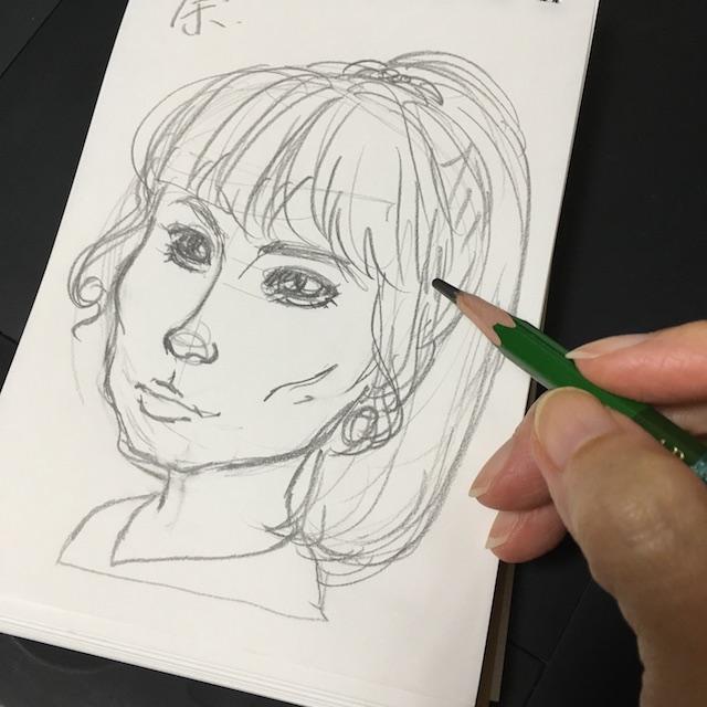 ドラマ「死役所」似顔絵