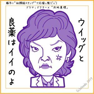 ドラマ「ドクターX」より清水ミチコさん似顔絵
