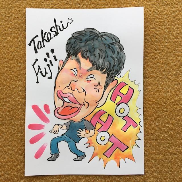 藤井隆さん似顔絵