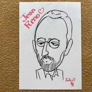 ジャン・レノさん似顔絵