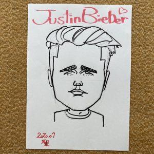 ジャスティン・ビーバーさん似顔絵