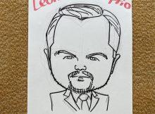 レオナルド・ディカプリオさん似顔絵