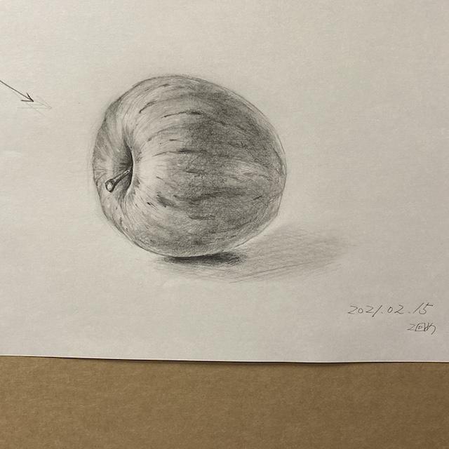 リンゴのデッサン2