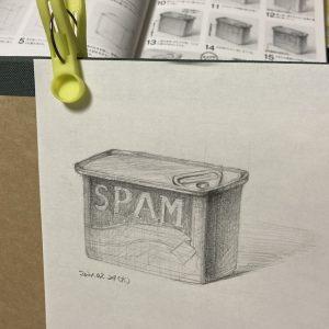 スパム缶デッサン