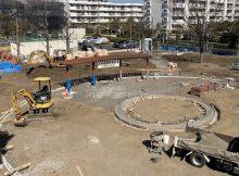 公園工事風景
