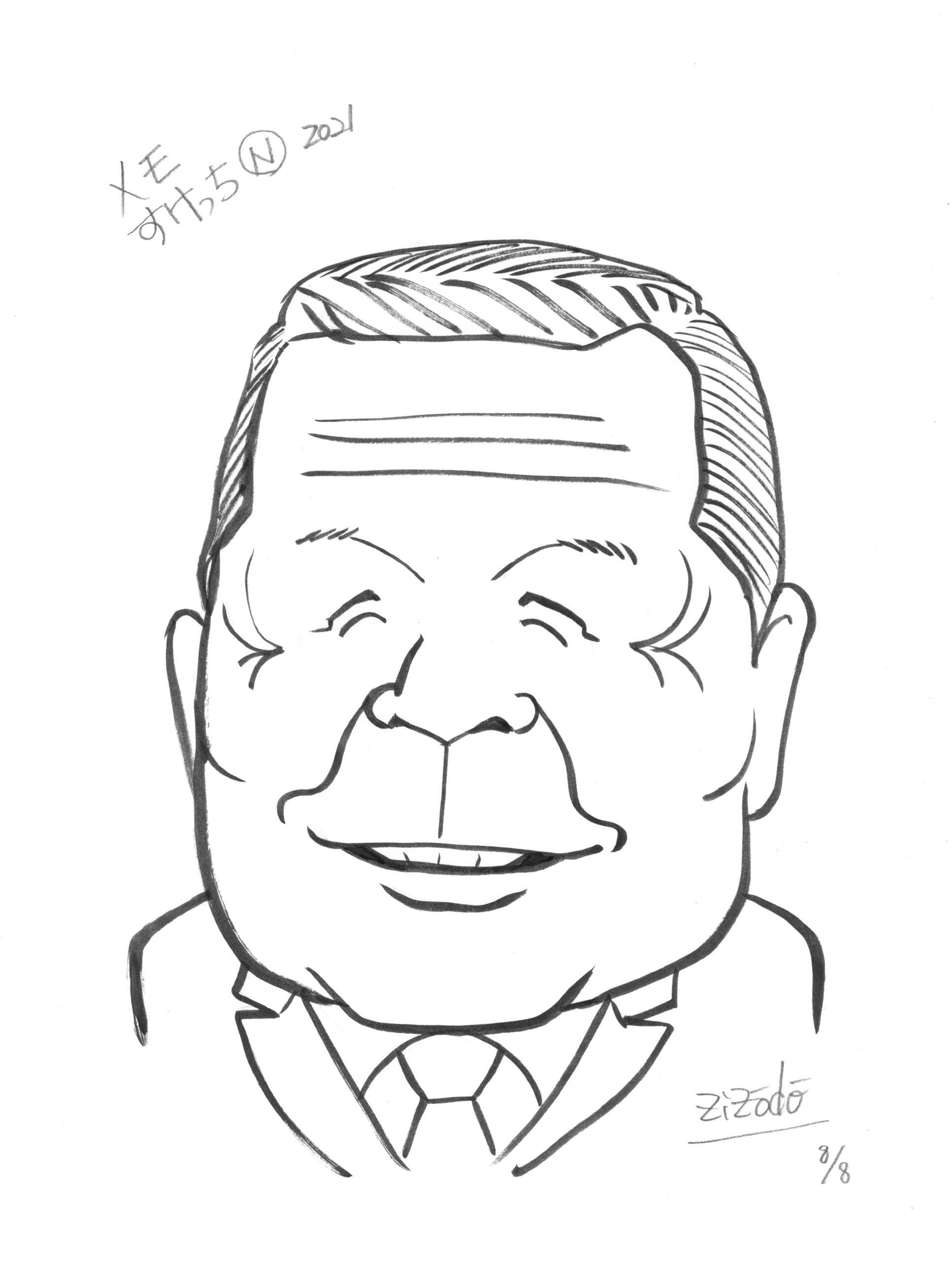 横浜市長選挙から似顔絵メモ