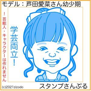芦田愛菜さん似顔絵スタンプ