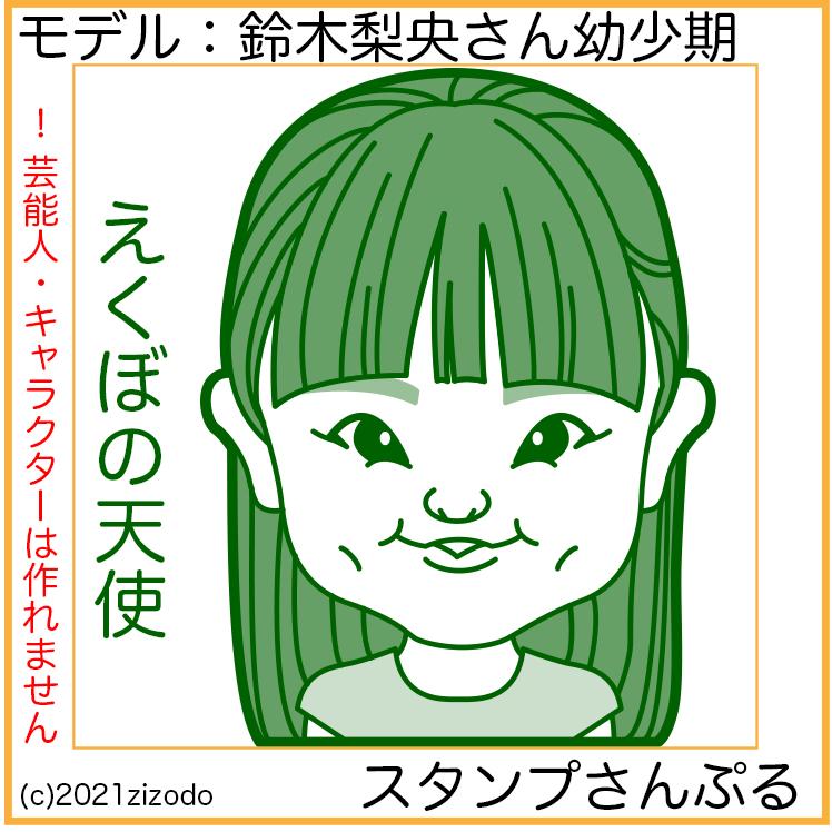 鈴木梨央さん似顔絵スタンプ